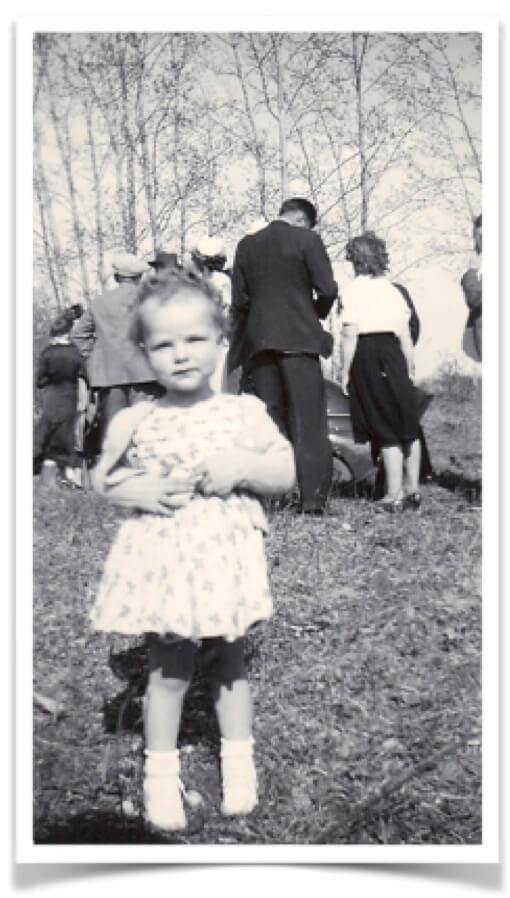 Me as a toddler in 1948